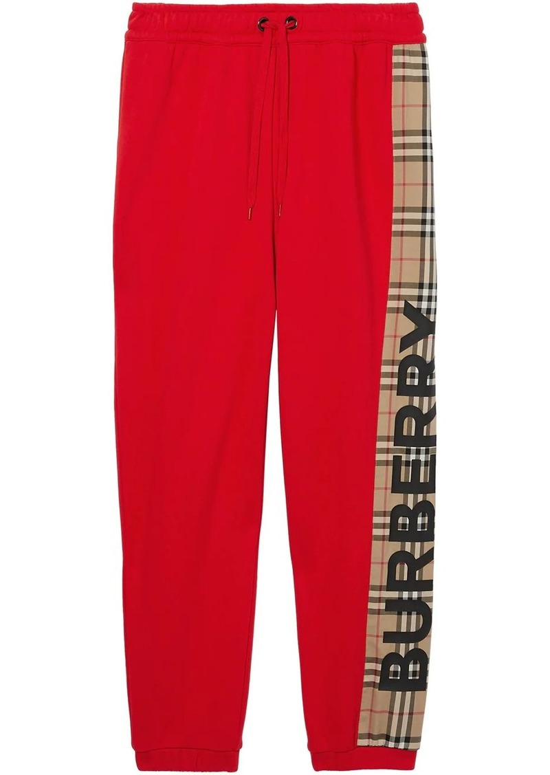 Burberry vintage check panel track pants