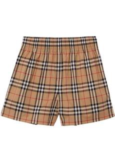 Burberry Vintage Check side-stripe shorts