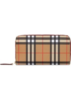 Burberry Vintage Check Ziparound Wallet