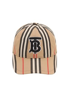 Burberry Vintage Cotton Canvas Baseball Hat