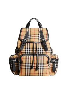 Burberry Vintage Medium Check Sailing Canvas Rucksack Backpack