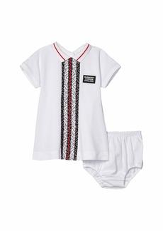 Burberry Violet Monogram Stripe Dress (Infant)