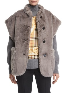 Burberry Whalton Faux-Fur Cape