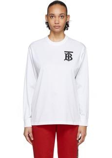 Burberry White Atherton Long Sleeve T-Shirt