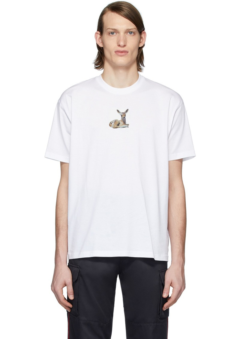 Burberry White Deer T-Shirt
