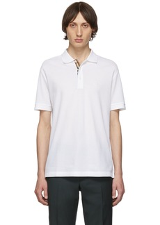 Burberry White Eddie MJ Wear Polo
