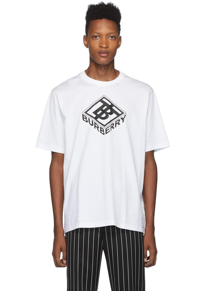 Burberry White Logo Ellison T-Shirt