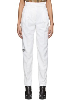 Burberry White Marleigh Trousers