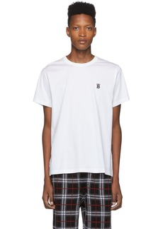 Burberry White Monogram Parker T-Shirt