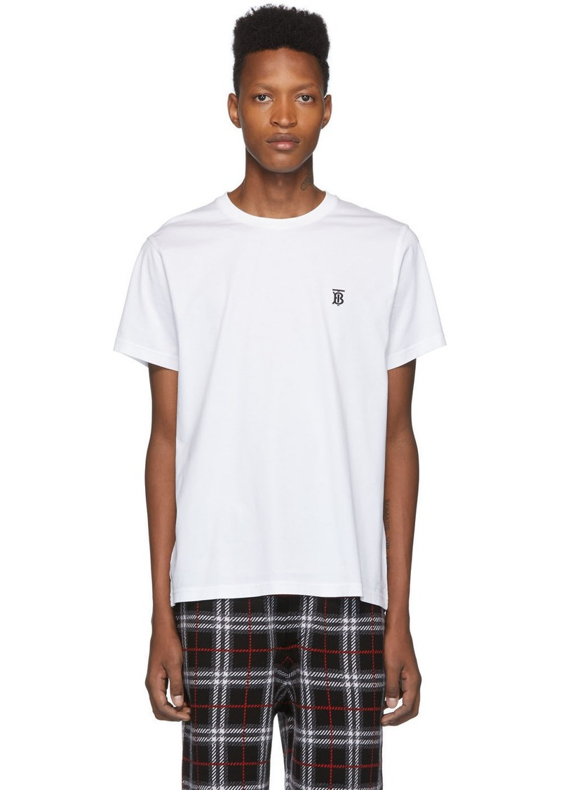 Burberry White Monogram Parker T-Shirt