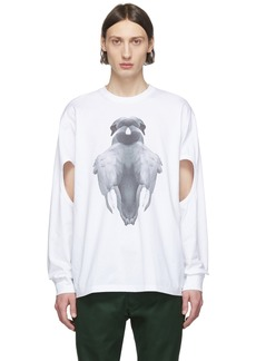 Burberry White Print Long Sleeve T-Shirt
