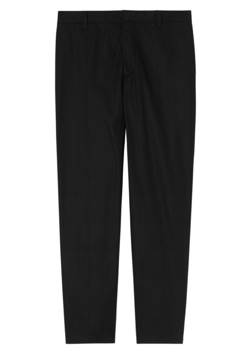 Burberry Wide-Leg Cotton Script Trousers