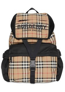 Burberry Large Wilfin Check Nylon Backpack