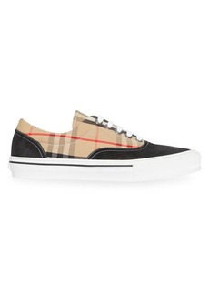 Burberry Wilson Logo Canvas Low-Top Sneakers