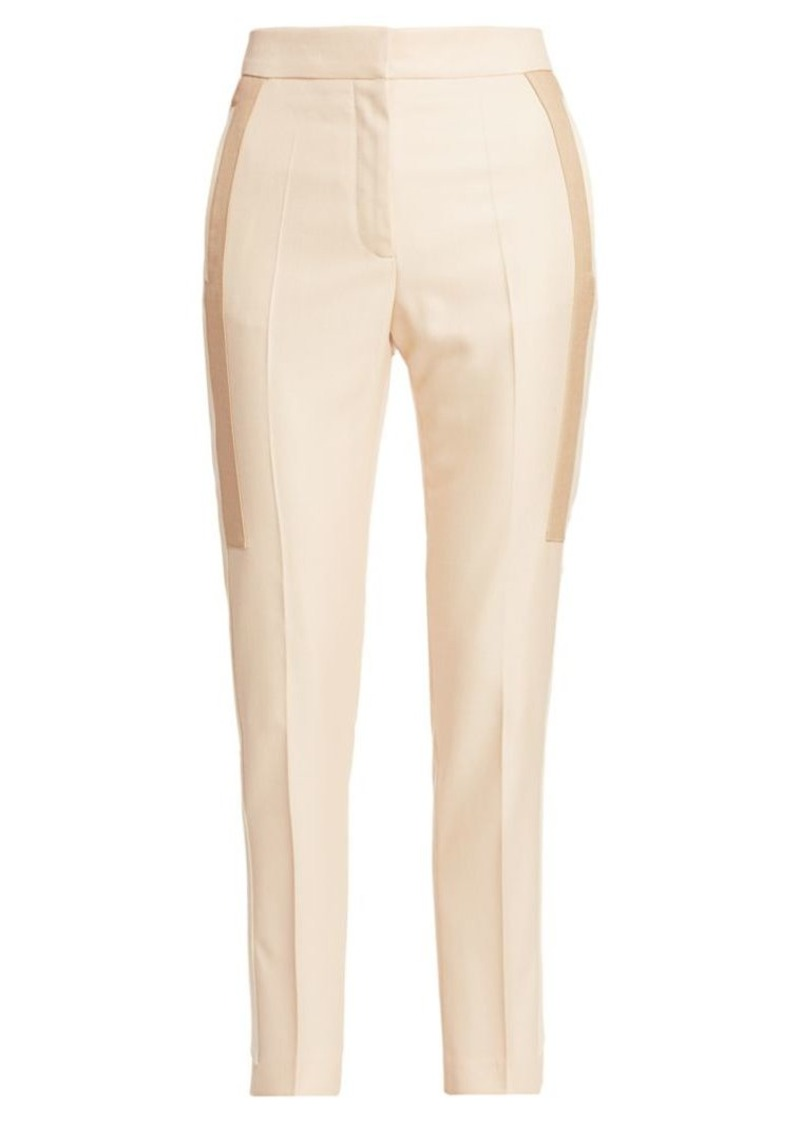 Burberry Wool & Silk Contrast Inset Pants