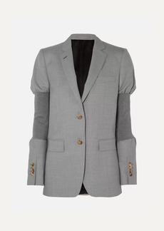 Burberry Wool And Stretch-knit Blazer