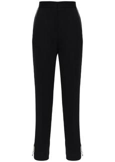 Burberry Wool Gabardine Pants W/ Chain