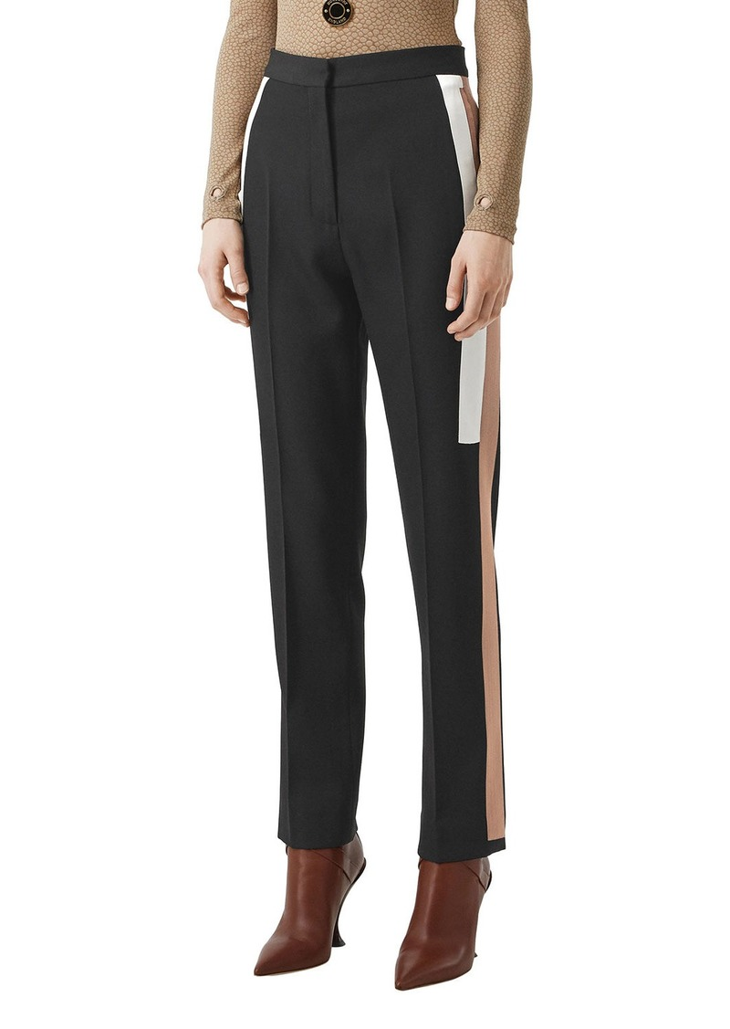 Burberry Wool Side Striped Trousers