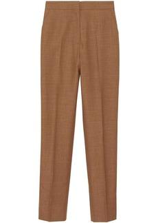 Burberry Wool Silk Mohair Linen Tailored Trousers