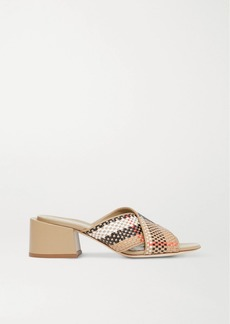 Burberry Woven Leather Mules