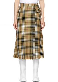 Burberry Yellow Broye Kilt