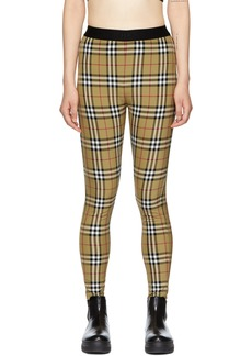 Burberry Beige Check Belvoir Leggings
