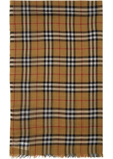 Burberry Yellow Gauze Giant Check Scarf