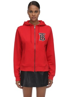 Burberry Zip-up Cotton Sweatshirt Hoodie