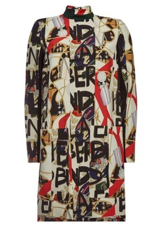 Burberry Zoya Printed Dress with Silk and Wool