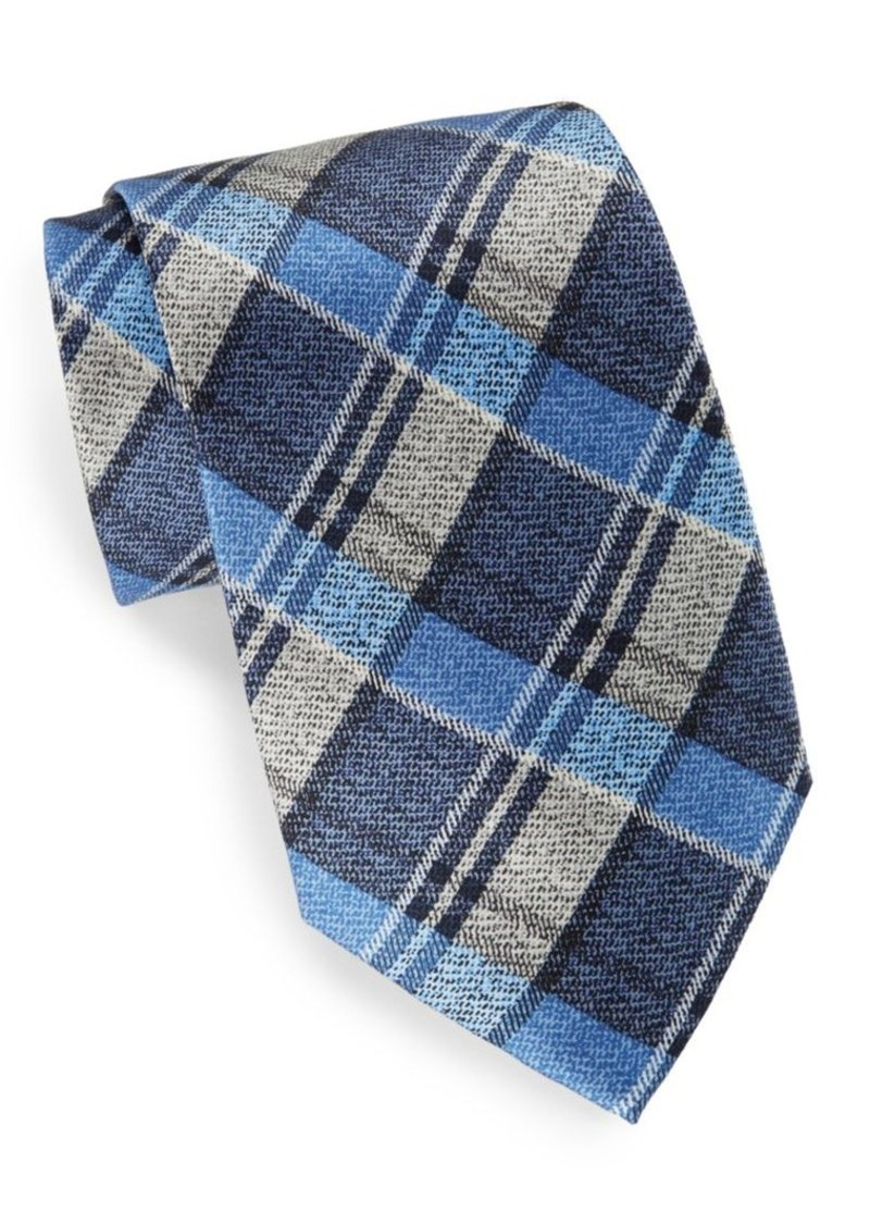 Burma Bibas Plaid Silk Tie & Gift Box