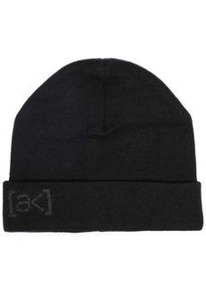 Burton black stagger beanie hat