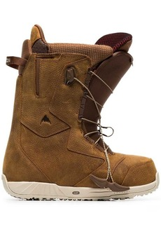 Burton brown ion leather snowboard boots