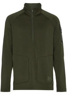 Burton Ak Grid Half-Zip long sleeve top - Green