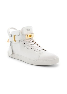 Buscemi 100MM High Top Pebbled Leather Sneakers
