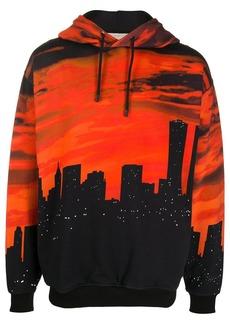 Buscemi city scape print hoodie