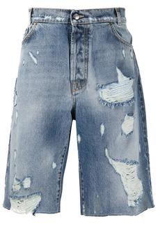Buscemi distressed denim shorts