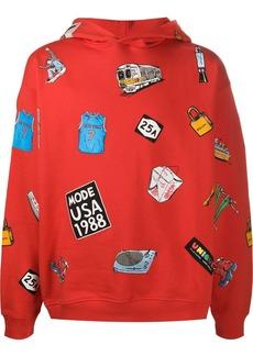 Buscemi graphic-print cotton hoodie