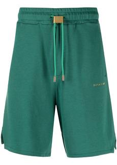 Buscemi logo-lettering track shorts