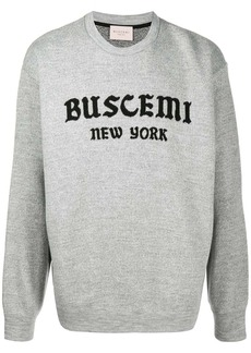 Buscemi logo print knitted sweatshirt