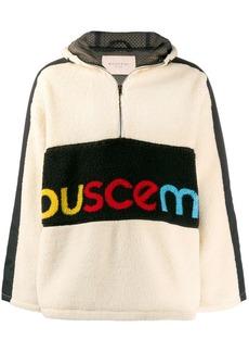 Buscemi logo printed shearling sweatshirt
