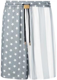 Buscemi mix-print drawstring-waist deck shorts