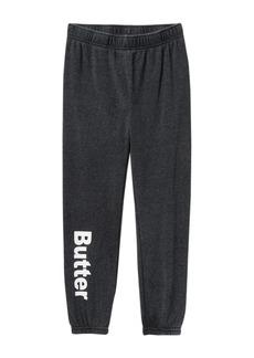 Butter Burnout Fleece Varsity Pants (Big Girls)