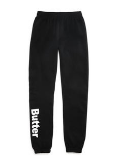 Butter Girls' Logo Fleece Sweatpants - Little Kid, Big Kid