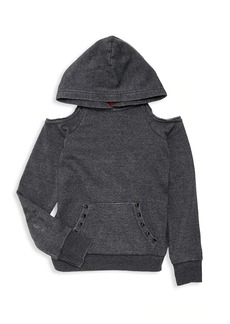Butter Girl's Lightening Burnout Hooded Sweater