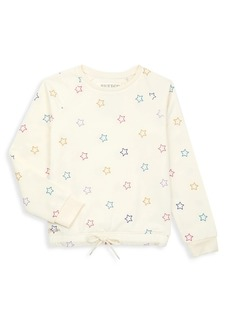 Butter Girl's Star-Print Cinched Waist Sweater