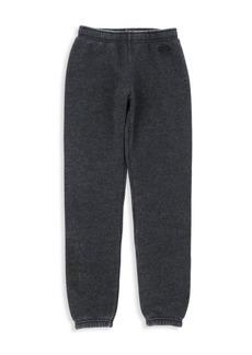 Butter Little Girl's & Girl's Burnout Fleece Varsity Pants