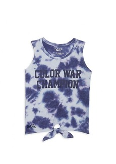 Butter Little Girl's & Girl's Color War Tie-Dye Tank