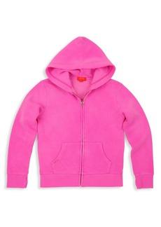 Butter Little Girl's Burnout Fleece Zip-Front Hoodie
