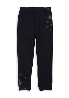Butter Little Girl's Star-Print Joggers