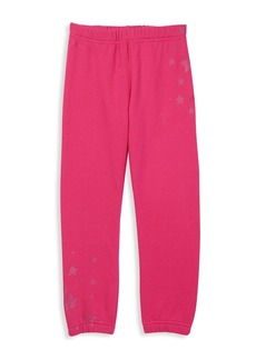 Butter Little Girl's Varsity Fleece Joggers